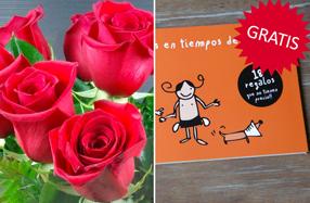 Ramos de rosas con talonario de regalo