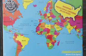 Mapa puzzle del mundo gigante