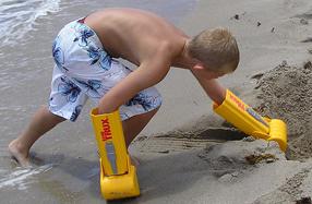 Excavadora de mano para la playa