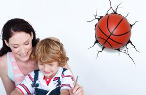 Lámpara 3D con forma de balón de baloncesto