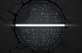 Lámpara 3D Star Wars: Estrella de la Muerte