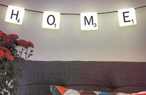 Luces Scrabble para personalizar tu casa