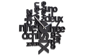 "Reloj de pared de diseño ""Lingua"""
