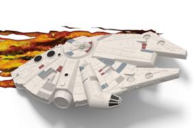 Lámpara 3D Star Wars: Halcón Milenario