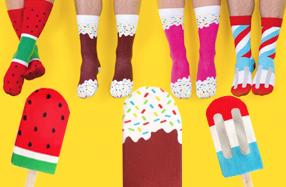Los calcetines más divertidos con forma de helados