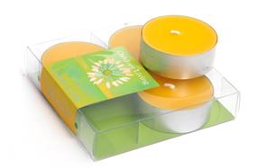 Set de dos cajas con 4 velas Tea Light con aroma a lima limón
