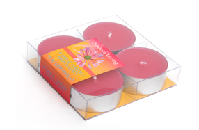 Set de dos cajas con 4 velas Tea Light con aroma a uvas