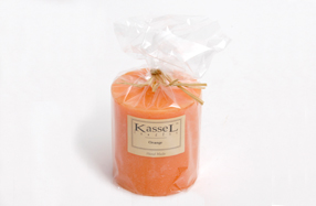 Vela aromática grande con esencia de naranja Kassel