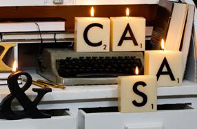 Velas grandes Scrabble para crear tu propio mensaje