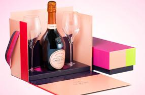 Estuche Laurent Perrier cuvée rosé con 2 copas