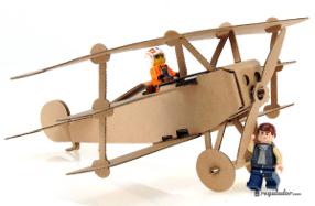 Juguetes creativos de cartón: aviones míticos