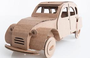 Juguetes creativos de cartón Leolandia: Citroën 4 latas