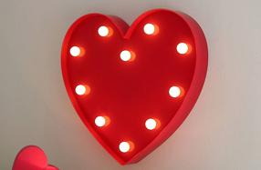 Lámpara corazón con luces LED