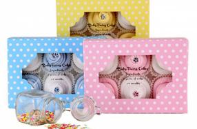 """Calcetines para recién nacidos con forma de """"Cupcakes"""""""