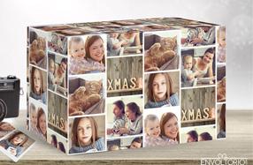 Papel de regalo personalizado modelo álbum de fotos