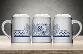 Juego de 6 jarras de cerveza tradicionales