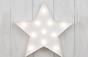 Lámpara estrella con luces LED