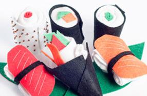 Calcetines para bebé con forma de cajita de sushi