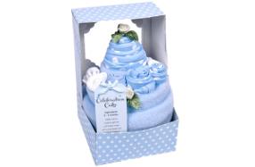 Ropita de bebé presentada en forma de tarta sorpresa