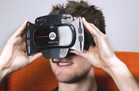 Gafas 3D de realidad virtual con mando
