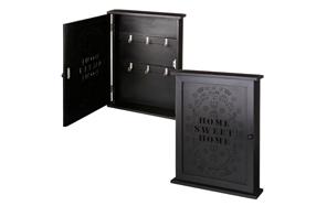 Caja negra de madera para las llaves