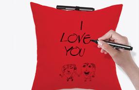El cojín más romántico para escribir mensajes