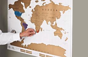 Mapa gigante  XXL para rascar los países que visitas