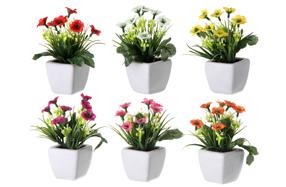 Juego de 6 plantas artificiales en varios colores