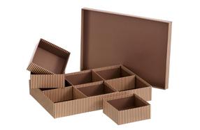 Caja de cartón con 6 compartimentos