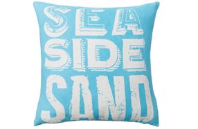 "Refrescante y moderno cojín ""Sea Side sand"""
