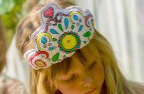 Diadema y corona de princesa para colorear