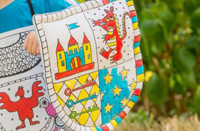 El escudo medieval más divertido para colorear