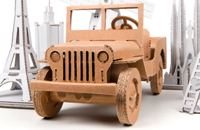 Juguetes creativos de cartón: Jeep Willy