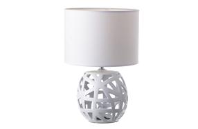 Lámpara de mesa con estructura de cerámica