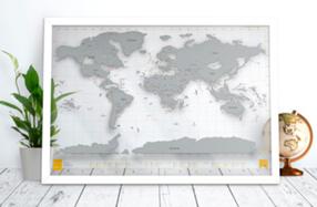 Mapamundi transparente para rascar los países visitados