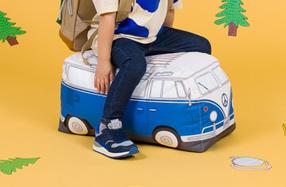 Puff para niños con forma de furgoneta