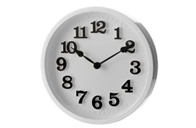 Reloj de pared clásico blanco