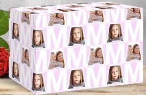 Papel de regalo personalizado para mamá