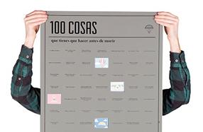 Póster con 100 cosas que hacer antes de morir