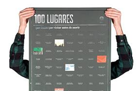 Póster con los 100 lugares que hay que visitar antes de morir