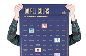 Póster con las 100 pelis que hay que ver antes de morir