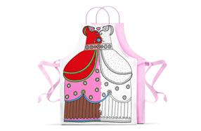 El vestido de princesa para colorear