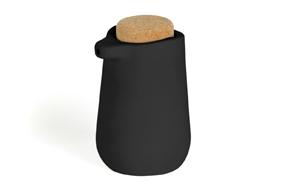 Dispensador de jabón 'Kera' de cerámica y corcho