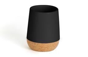 Vaso de enjuague 'Kera' de cerámica con base de corcho
