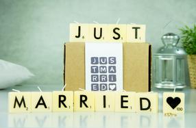Velas Scrabble para recién casados
