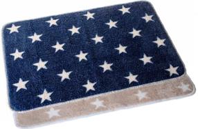 Suave alfombra de baño con estrellas