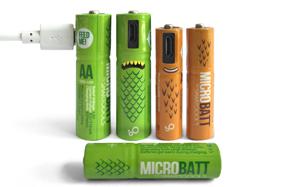 Las únicas pilas recargables por cable USB