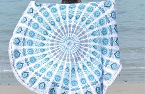 """Toallas redondas con diseños """"Mandala"""""""