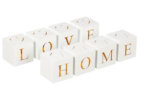 Juego de cajas con luz 'Love Home'