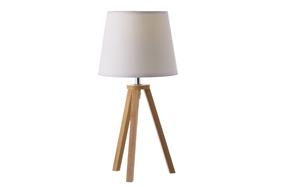 Lámpara de mesa con base estilo trípode